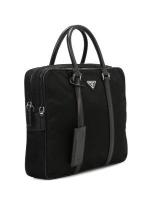 Prada: laptop bags & briefcases online - Double zip nylon briefcase