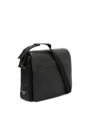 Prada: laptop bags & briefcases online - Flap-over leather briefcase