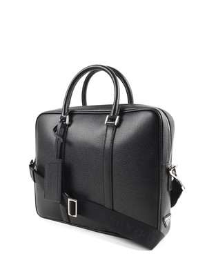 Prada: laptop bags & briefcases online - Hammered leather satchel