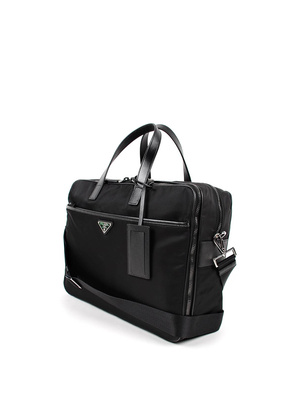 Prada: laptop bags & briefcases online - Nylon and leather laptop bag