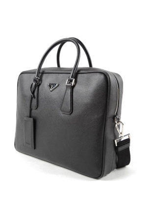 Prada: laptop bags & briefcases online - Saffiano leather briefcase
