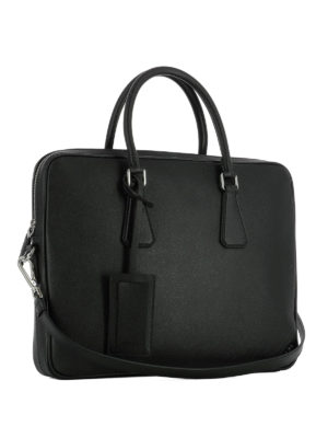Prada: laptop bags & briefcases online - Saffiano leather classic briefcase