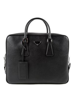 Prada: laptop bags & briefcases - Saffiano leather briefcase