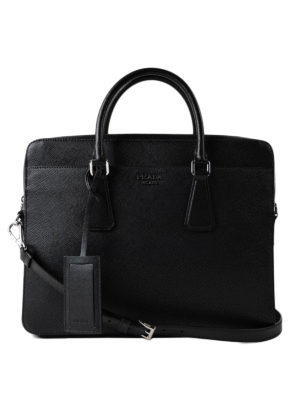 Prada: laptop bags & briefcases - Saffiano leather briefcase