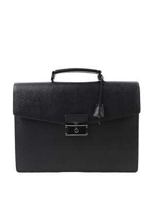 Prada: laptop bags & briefcases - Saffiano leather satchel