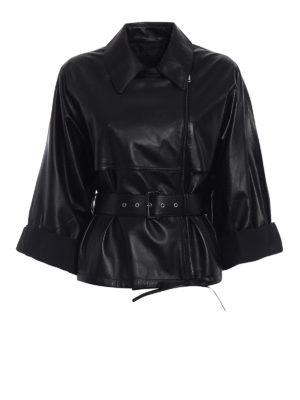 Prada: leather jacket - Napa leather biker jacket