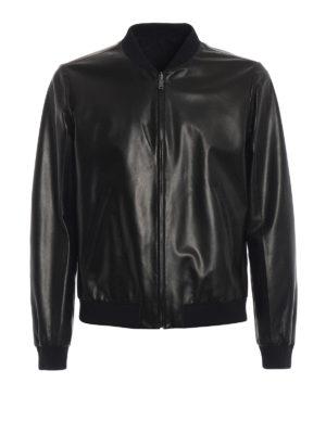 PRADA: giacche in pelle - Bomber reversibile in nappa e nylon