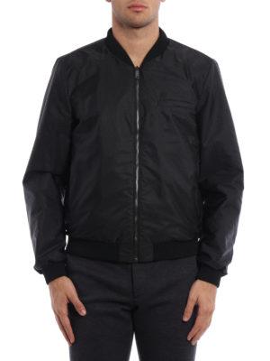 Prada: leather jacket online - Reversible napa bomber jacket