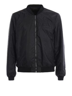Prada: leather jacket - Reversible napa bomber jacket