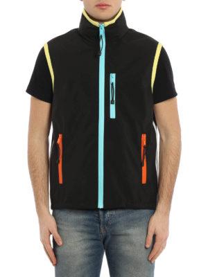 Prada Linea Rossa: casual jackets online - Sleeveless coated nylon jacket