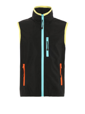 Prada Linea Rossa: casual jackets - Sleeveless coated nylon jacket