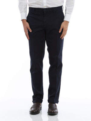 Prada Linea Rossa: casual trousers online - Cotton chino trousers