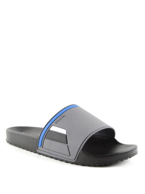 Prada Linea Rossa: sandals online - Rubber slides