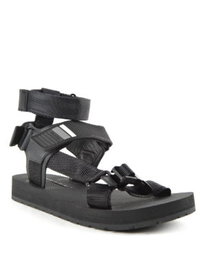 leather and rubber sandals