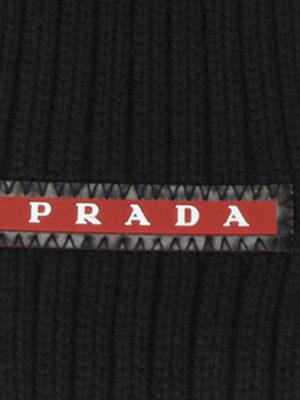 Prada Linea Rossa: scarves online - RIB KNITTED WOOL SCARF