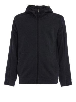 Prada Linea Rossa: Sweatshirts & Sweaters - Full zip nylon hooded sweatshirt