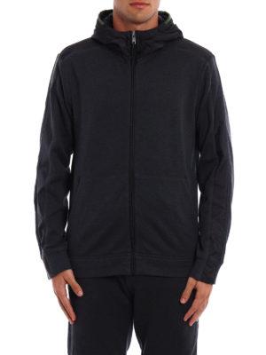 Prada Linea Rossa: Sweatshirts & Sweaters online - Full zip nylon hooded sweatshirt