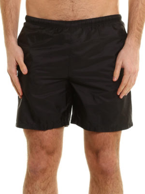 Prada Linea Rossa: Swim shorts & swimming trunks online - Lightweight nylon swim shorts