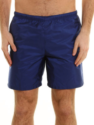 Prada Linea Rossa: Swim shorts & swimming trunks online - Lightweight nylon swimm shorts