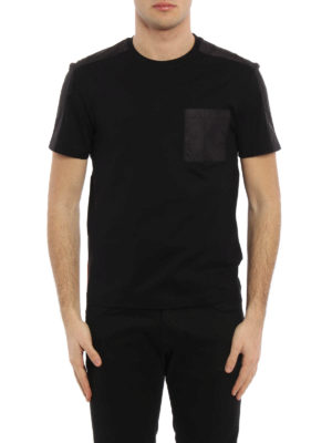 Prada Linea Rossa: t-shirts online - Nylon detailed basic Tee