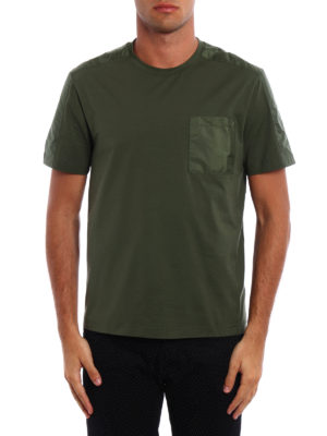 Prada Linea Rossa: t-shirts online - Pocket detailed cotton Tee