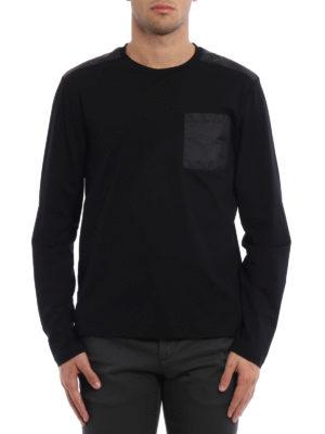 Prada Linea Rossa: t-shirts online - Stretch cotton T-shirt