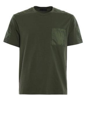 Prada Linea Rossa: t-shirts - Pocket detailed cotton Tee