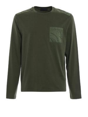 Prada Linea Rossa: t-shirts - Pocket detailed long sleeve Tee