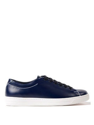 Prada Linea Rossa: trainers - Avenue brushed leather sneakers