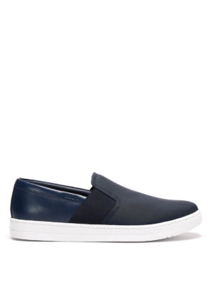 Prada Linea Rossa: trainers - Fabric and leather slip-ons