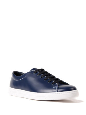 Prada Linea Rossa: trainers online - Avenue brushed leather sneakers
