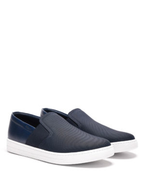 Prada Linea Rossa: trainers online - Fabric and leather slip-ons