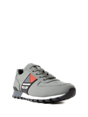 Prada Linea Rossa: trainers online - Rubber logo band techno sneakers