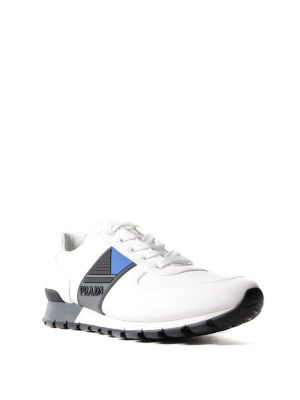 Prada Linea Rossa: trainers online - Rubber logo bands techno sneakers