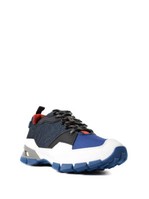 Prada Linea Rossa: trainers online - Trail blue techno sneakers