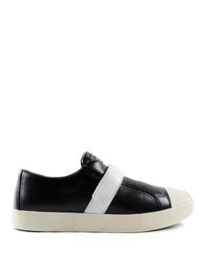 Prada Linea Rossa: trainers - Two-tone calf leather sneakers