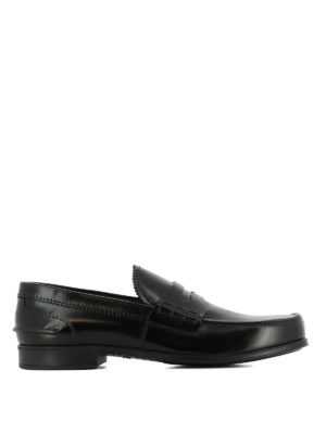 Prada: Loafers & Slippers - Black smooth leather loafers