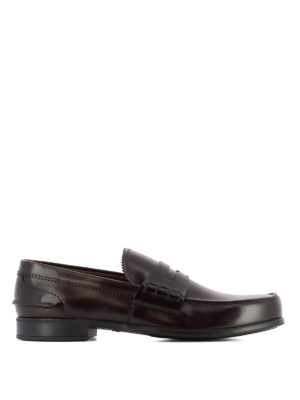 Prada: Loafers & Slippers - Brown smooth leather loafers