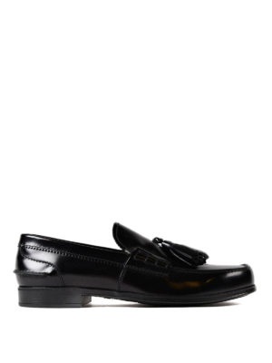 Prada: Loafers & Slippers - Brushed leather loafer with tassels