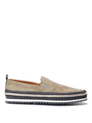 Prada: Loafers & Slippers - Espadrilles style suede slip-ons