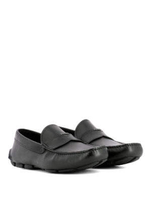 Prada: Loafers & Slippers online - Black leather driver loafers