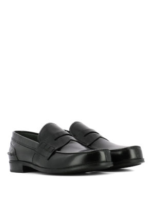Prada: Loafers & Slippers online - Black smooth leather loafers