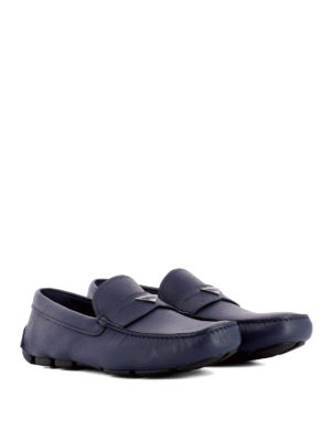 Prada: Loafers & Slippers online - Blue leather driver loafers
