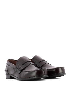 Prada: Loafers & Slippers online - Brown smooth leather loafers
