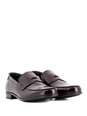 Prada: Loafers & Slippers online - Brushed leather classic loafers