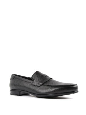 Prada: Loafers & Slippers online - Brushed saffiano leather loafers