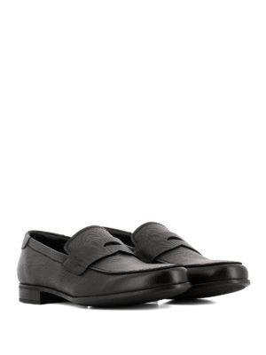 Prada: Loafers & Slippers online - Dark Brown saffiano leather loafers