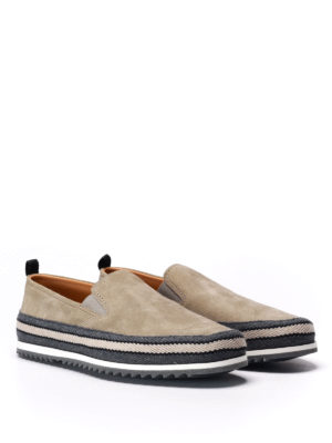 Prada: Loafers & Slippers online - Espadrilles style suede slip-ons