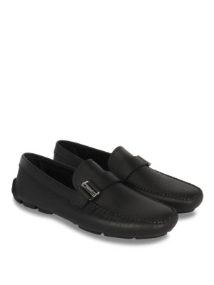 Prada: Loafers & Slippers online - Saffiano leather driver loafers