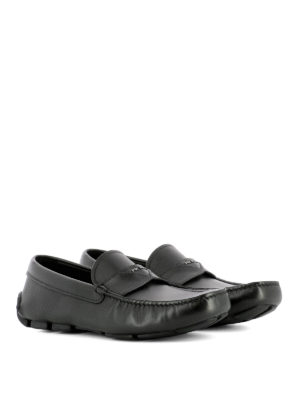 Prada: Loafers & Slippers online - Woven rubber sole leather loafers